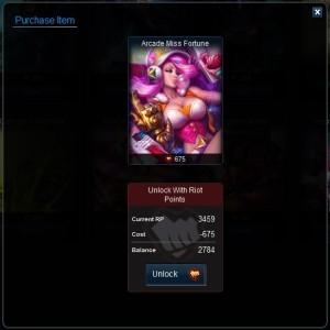 Arcade Miss Fortune
