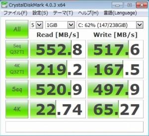 CrystalDiskMark score